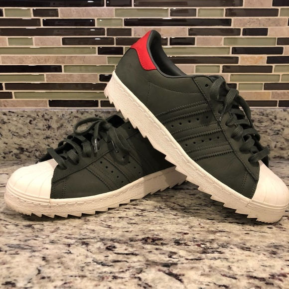 afeb31b8 adidas Shoes | Olive Red Superstar Shark | Poshmark
